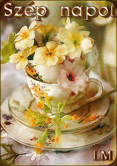 Smiley, Good Morning, Tea Cups, Tableware, Buen Dia, Dinnerware, Bonjour, Tablewares, Dishes