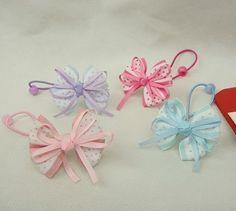Girls TV Character Themed Elastic Stretchy Ribbon Bow Headband Baby Toddler