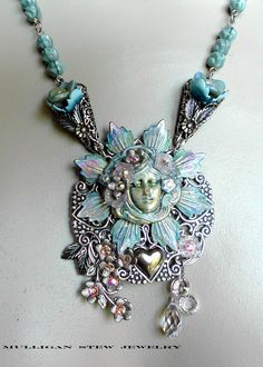 """This necklace was inspired by the song """"The Flower Girl"""", sung in the 1960's by the Cowsills."""