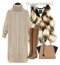 """Chilly"" by bourgeoisiemind on Polyvore featuring GUESS by Marciano, Topshop, Fendi, women's clothing, women, female, woman, misses and juniors"