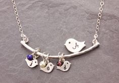 1 to 5 Babies mothers necklace new mom necklace by MegusAttic