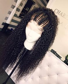 Beautiful long curly wigs for black women lace front wigs human hair wigs hairst. - My list of women's hair styles Curly Lace Frontal, Curly Lace Front Wigs, Wig Styling, Curly Hair Styles, Natural Hair Styles, Braids For Curly Hair, Kinky Curly Wigs, Human Hair Lace Wigs, Human Wigs