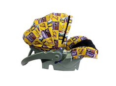Lakers infant car seat cover custom handmade baby carseat covers Brown  Babies 02ad973cf