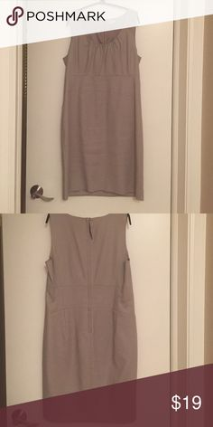 J. Crew dress Light gray dress. Worn a couple times. Zipper and hook closure in back. A little bit of stretch in it.  Fully lined J. Crew Dresses