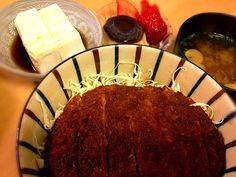 疲れて何も作りたくない日の簡単料理(つД`)ノ 罪悪感から、さらに簡単な冷奴とデザートもつけちゃう(((o(*゚▽゚*)o))) - 110件のもぐもぐ - 福井名物ソースカツ丼 by ritsuxdai