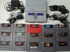 Super Nintendo SNES Console With Controllers & 15 Epic Games Tested Working Good #Nintendo