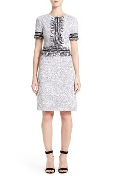 Free shipping and returns on St. John Collection Nita Tweed Sheath Dress at Nordstrom.com. Cut from subtly pebbled monochrome tweed, this woolen shift is a curve-hugging workweek staple with softly fringed trim that sets you apart from the watercooler crowd.