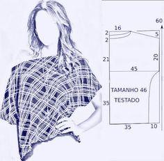 vamos combinar: Moldes blusas fáceis vários modelos e tam.
