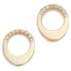 Gabriela Artigas Pave Small Egg Earrings (28,870 INR) ❤ liked on Polyvore featuring jewelry, earrings, pave jewelry, stud earrings, earrings jewellery, diamond accent earrings and 14k stud earrings
