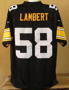 797d5013c67 Jack Lambert 58 Pittsburgh Steelers NFL THROWBACK sewn football jersey mens  XL