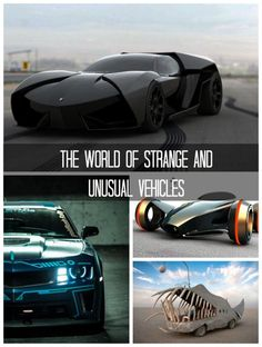 Check out the World of Strange and Unusual Vehicles. Some of these cars will blow you away! #spon #omg
