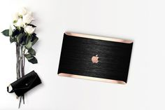 Platinum Edition Brushed Black Metallic Hybrid Hard Case for Apple Macbook Air & Mac Pro 13 Retina