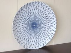 Blue & white plate, likely 60s or 70s