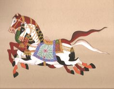 marwari horses from india with pictures | Details about Indian Miniature Painting Handmade Marwari Horse ...