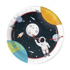 6 X Silver Star plaques Espace-Partie garçons fête d/'anniversaire Rocket Décorations