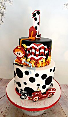 Will's Fireman cake - All edible!