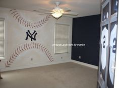 NY Yankees Big Boy Room - traditional - kids - new york - by Murals and more by Patrice