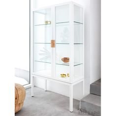 Asplund - Frame Vitrine Cabinet - Lekker Home - 3 Simple Furniture, Furniture Design, Muebles Living, Space Frame, Glass Shelves, Glass Cabinets, Medicine Cabinets, China Cabinets, Elle Decor