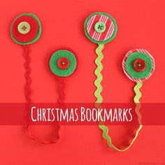 Christmas Bookmarks - cute bookmarks.  This would be a great kid friendly school party project.