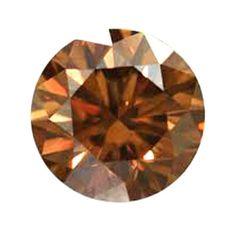 Diamond 1.59 CT SI1 Round Brilliant cut BROWN color Natural Loose !!!