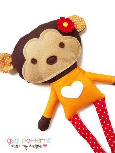 Hey, diesen tollen Etsy-Artikel fand ich bei https://www.etsy.com/de/listing/79109090/toy-sewing-pattern-monkey-doll-pdf