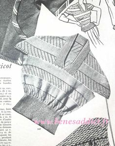 Vintage Knitting, Crochet Top, Knitting Patterns, Jumper, Couture, Creations, Jackets, Clothes, Tops