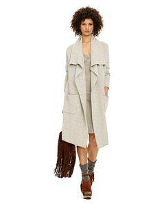 Wool-Cashmere Draped Cardigan - Polo Ralph Lauren Cardigans - RalphLauren.com  Short Sleeve d419606877c
