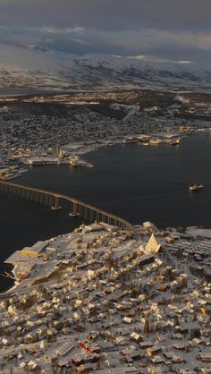 Tromso, Norway. Unbelievable views surrounding the city.