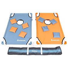 Bring the perfect portable cornhole game set to your next tailgate party with ease. The Harvil PVC Framed Cornhole Game Set has a nylon fabric surface with a black brim that is pre-assembled onto sturdy PVC pipes. Just attach the rest of the pipes to form the board and the legs and you are ready... more details available at https://perfect-gifts.bestselleroutlets.com/gifts-for-holidays/toys-games/product-review-for-harvil-portable-pvc-framed-cornhole-set-with-8-double-lined-b