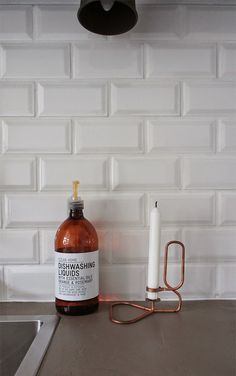 Edler Fliesenspiegel Mit #Metrofliesen In Weiß, Format 7,5 X 15 Cm.  Www.casa1.de | Kitchens And Etc... | Pinterest | Kitchens, Interiors And  Kitchen Dining