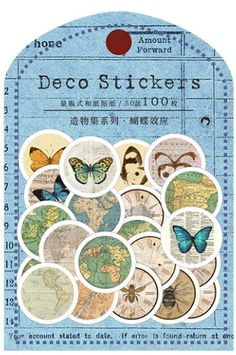 This is super cute paper sticker set.- Material: Japanese washi paper- 100 stickers as a set - size:… Korean Stickers, Diy Gift Box, Kawaii Stickers, Thread Spools, Candy Gifts, Sticker Paper, Washi, The Creator, Butterfly