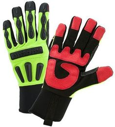 West Chester RD LD Rigger Gloves with Long Neoprene Cuff - Free Shipping