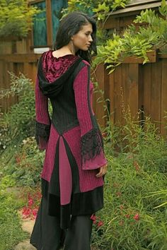 """""""One of a Kind' Recycled Sweater Coats - Click Image to Close Sweater Coats, Ugly Sweater, Diy Clothing, Sewing Clothes, Pullover Upcycling, Recycled Sweaters, Altered Couture, Creation Couture, Recycled Fashion"""