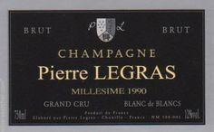 Champagne Pierre Legras Blanc de Blancs Grand Cru Brut