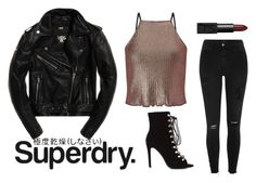 """""""The Cover Up – Jackets by Superdry: Contest Entry"""" by zelize-yo ❤ liked on Polyvore featuring Superdry, River Island, NARS Cosmetics and Miss Selfridge"""