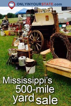 You'll Absolutely Love This 500 Mile Yard Sale Going Right Through Mississippi Places To Travel, Travel Destinations, Places To Go, American Express Rewards, Girls Love Travel, Rv For Sale, Travel Agency, Vacation Spots, Vacation Places