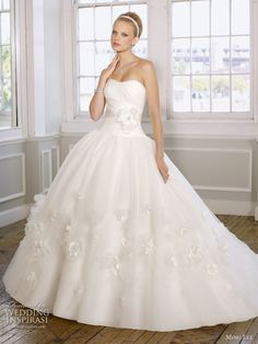ball gowns | Strapless ball gown wedding dress by Mori Lee, Spring 2011 bridal ...