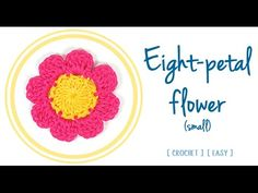 HOW TO CROCHET AN EIGHT-PETAL FLOWER (small) | Patrones Valhalla ENG - YouTube