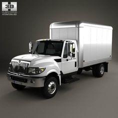 International Terrastar Box Truck 2010 3d model from humster3d.com. Price: $75