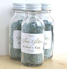 Robins Egg Blue German Glass Glitter / Glass Glitter/ Craft Glitter Blue    ~ ♥ #color #design #decor