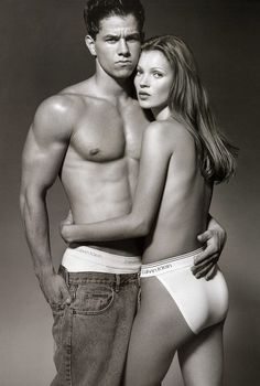 Vintage Marky Mark and Kate Moss for Calvin Klein.