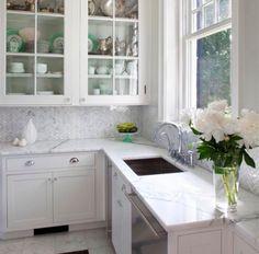 "10 SQFT-Carrara White & Grey 1 x 2"" Herringbone Tile Kitchen Backsplash Bathroom #Tilebar"
