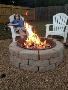 backyard fire pit build inexpensive, outdoor living