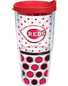 24oz Cincinnati Reds Polka Dot with Lid i want it!