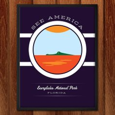 See America Project - Florida State Parks Everglades National Park Florida, Yellowstone National Park, National Park Posters, Us National Parks, Graphic Design Resume, American Indian Art, Native American, Amazing Nature, Travel Posters