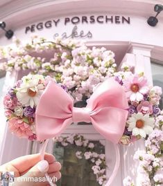 Made-To-Order Tangled Inspired Minnie Mouse ears Floral Minnie Ears Rapunzel Headband Disney Princess Diy Disney Ears, Disney Minnie Mouse Ears, Cute Disney, Disney Style, Disneyland Ears, Disneyland World, Disney Day, Disney Girls, Princess Disney