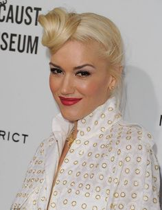 """Miss Gwen Stefani and the """"New Twist On The Fun Bun: The Off-To-The-Side Top Knot"""""""