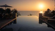 "Sunset at the Trisara resort (aka ""Third Garden in Heaven""). Phuket, Thailand."