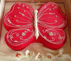 """""""The dance of the red butterfly"""" cake"""