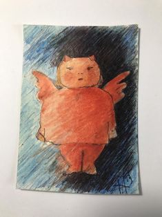 Original ACEO, designed on pencil cardboard, Matilda angel and demon, miniature for collectors created by Armando D'Andrea Painting, Etsy, Vintage, Art, Painting Art, Paintings, Vintage Comics, Painted Canvas, Drawings